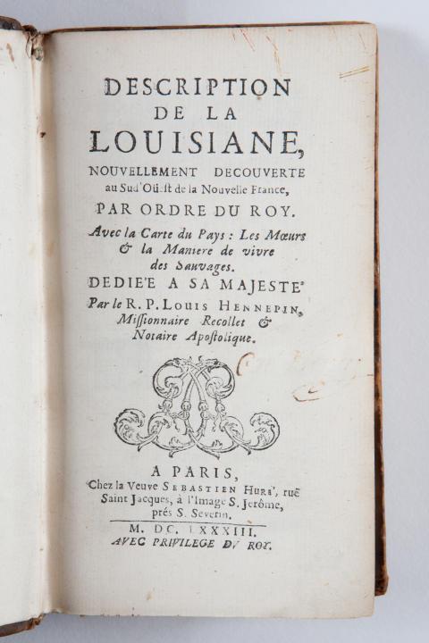 "Uppslaget till ""Description de la Louisiane"""