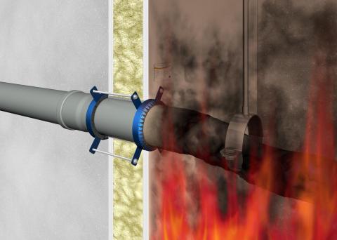 Fachartikel: Garantierte Sicherheit - Das Abschottungsprinzip mit Brandschutzmanschetten einfach realisiert