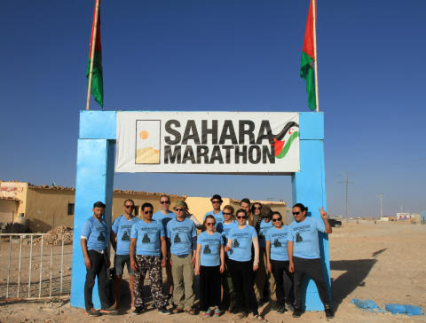 Svenskar springer maraton i öknen för Västsaharas frihet
