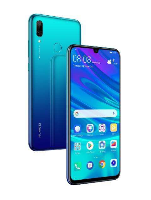 Huawei lanserar P Smart 2019 - nu med större lagringsutrymme, bättre batteritid, större skärm och två AI-kameror