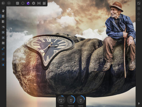 Affinity Photo for iPad: Liquify Warp