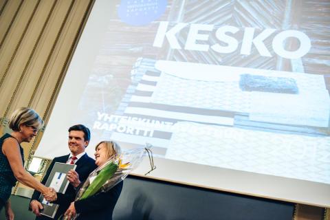 Kesko palkittiin Suomen parhaana vastuullisuusraportoijana