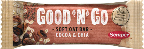Good'n'Go Soft Oat bar Cocoa Chia