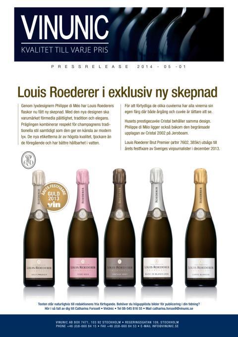 Louis Roederer i exklusiv ny skepnad