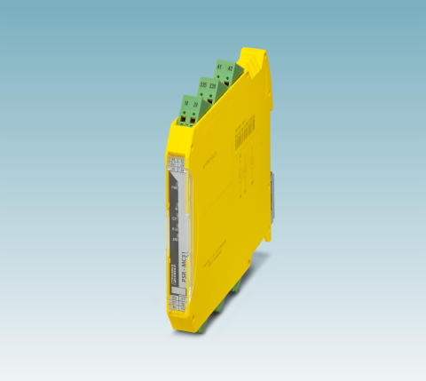 Safety relay with solid state outputs