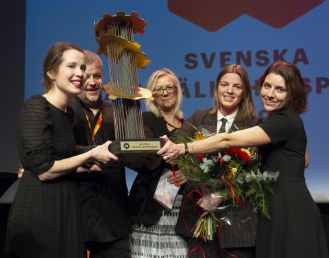 Kunskapscentrum för jämlik vård vinner Svenska jämställdhetspriset 2019