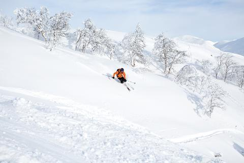 Skidåkning i Hemsedal februari 2014