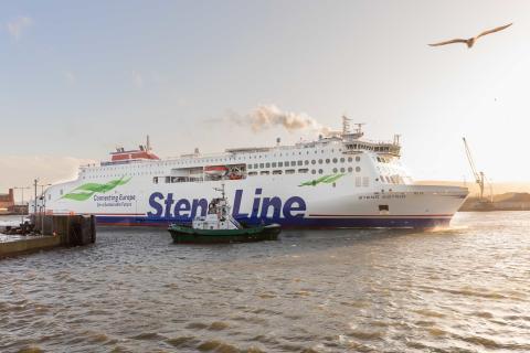 Brand new ferry Stena Estrid makes her debut on the Irish Sea