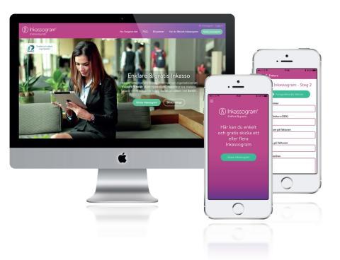 Inkassogram på nätet och via mobil App