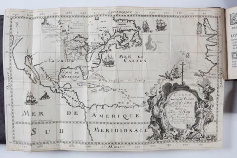 """Karta över Louisiana ur """"Description de la Louisiane"""""""