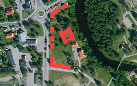 Planering för 40-50 lägenheter i Hörnefors