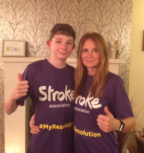 ​Derby mother and son take on Resolution Run for the Stroke Association