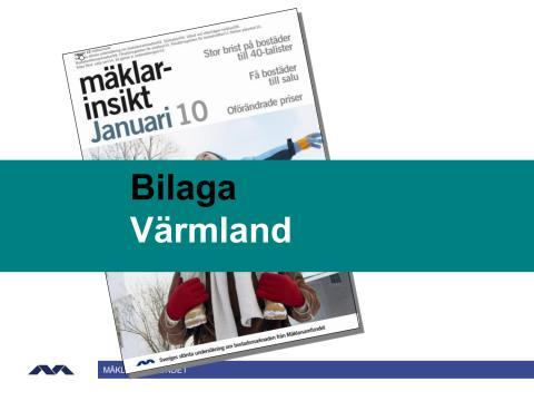 Mäklarinsikt januari 2010: Värmland