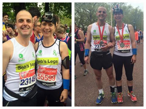 Parents set new World Three Legged Marathon Record at London Marathon for son