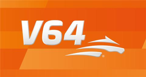 V64 logga