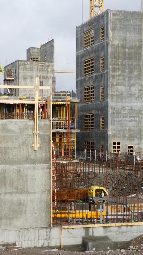 Byggeplads, Nytt Østfoldsykehus, Norge
