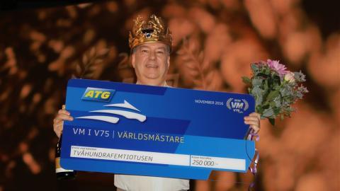 Årets världsmästare i V75 är Staffan Edholm
