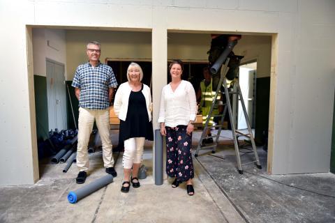 Karlshamns nya scenkonsthus i Lokstallarna växer fram