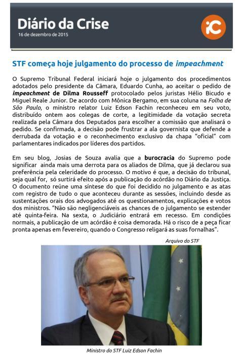 Diário da Crise - 16.12.2015