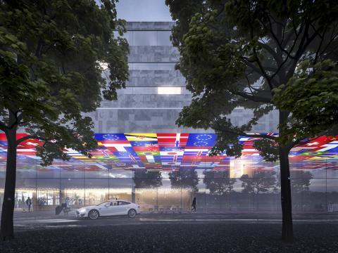 Gert Wingårdhs vinnande design för nytt hotell på Göteborg Landvetter Airport