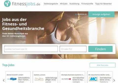 Neuer Online-Stellenmarkt: deutschlandweit Jobs in der Fitness- und Gesundheitsbranche finden