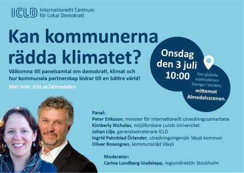 Almedalen 3 juli 10.00: Kan kommunerna rädda klimatet?