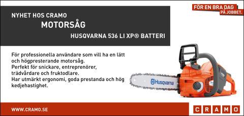 Nyhet hos Cramo: Motorsåg (HUSQVARNA 536 Li XP® Batteri)
