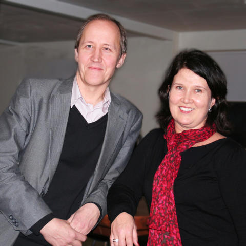 Jens från Krux och Catarina från Skellefteå Kraft