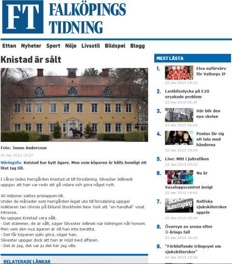 En entreprenör från Jönköping tar över Knistad.