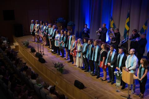 Akademisk avslutning för studenter vid Hälsohögskolan
