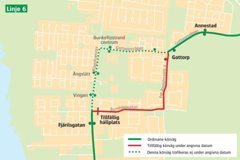 Linje 6 Bunkeflostrand