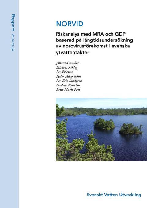 SVU-rapport 2013-20: NORVID – Riskanalys med MRA och GDP... (Dricksvatten)
