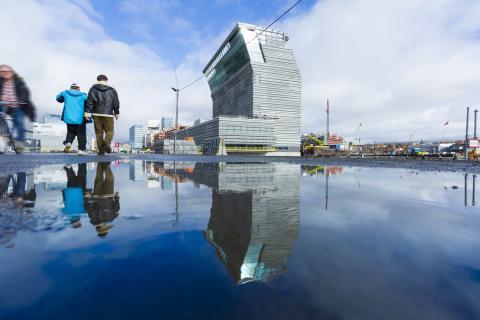 Строящееся здание Музея Мунка в Осло