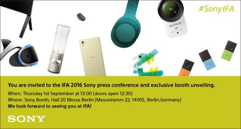 Sony Pressekonferenz IFA 2016