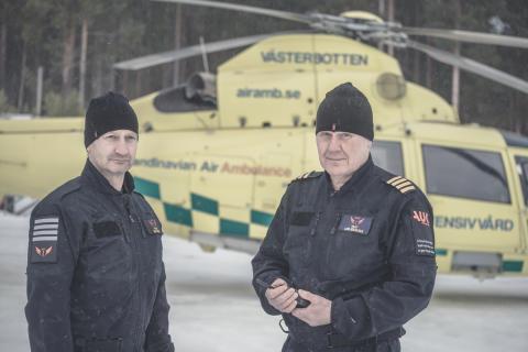 Pilots Emil Fredin & Lars-Gunnar Falk at BSAA Lycksele