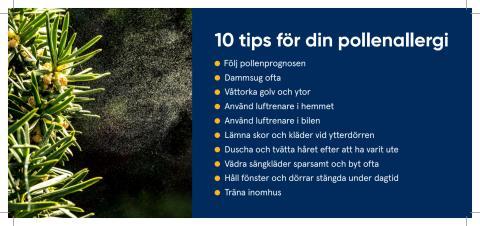 10 tips för din pollenallergi