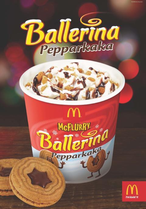 Ballerina Pepparkaka blir glass