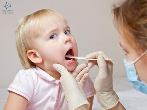 Amigdalite é frequente em crianças