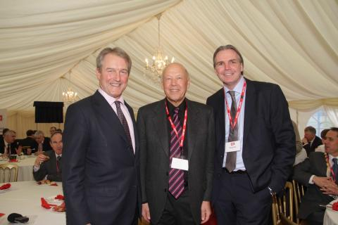 Owen Paterson, Theo Müller Snr and Ronald Kers