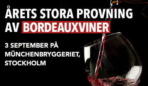 Winefinder arrangerar Sveriges Största Bordeauxprovning
