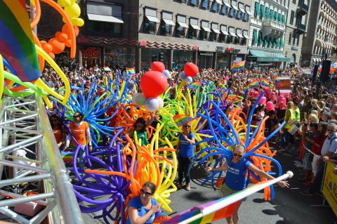 Clarion Hotel feiret stort under Pride i Stockholm i 2015.