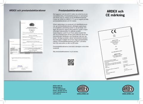 ARDEX är klara med sin CE-märkning