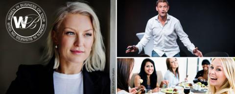 Women in business on tour lyfter kvinnliga företagare