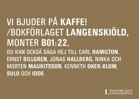 Äntligen! Bok och biblioteksmässan i Göteborg 23-26 september