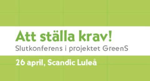 Välkommen till konferens om att öka andelen grön offentlig upphandling i Norrbotten