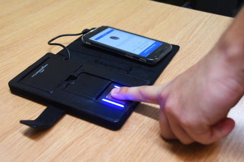 Fingerprint scanned