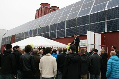 Per Bengtsson, affärsområdeschef Wexnet inviger Green Data Center