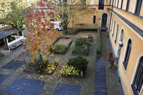 Residenset i Kristianstad, trädgårdsanläggning