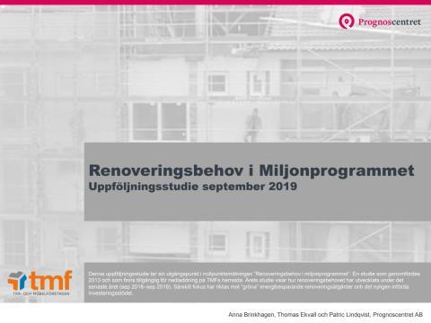 Renoveringsbehov i miljonprogrammet - 2019