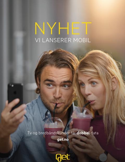 Get lanserer mobil-  og har du allerede tv og bredbånd får du dobbel mobildata!